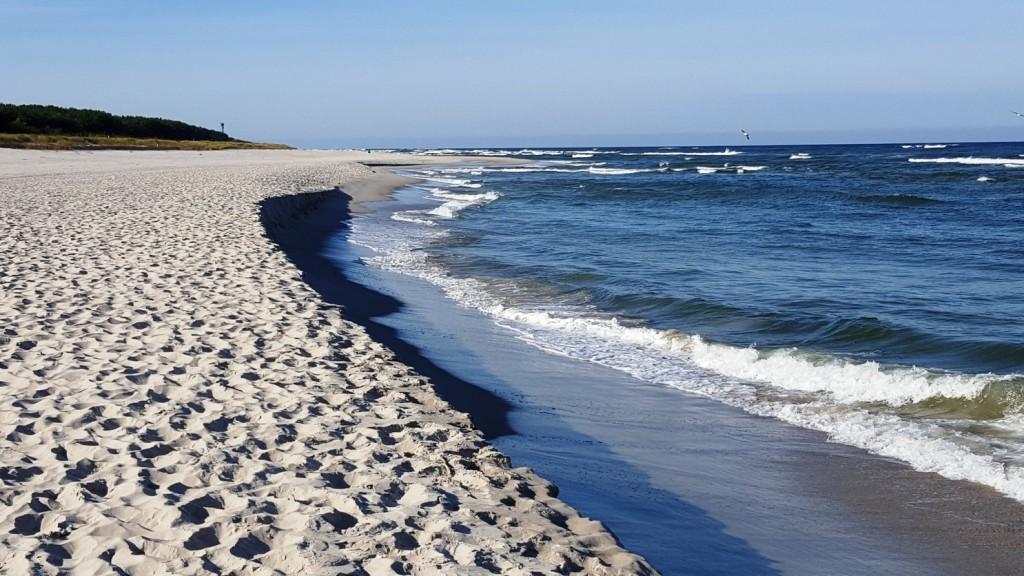 Plaża Hel Otwarte Morze październik 2015