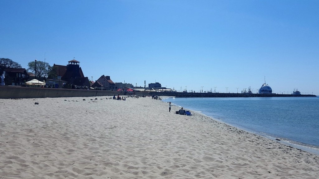 Hel Plaża nad zatoką